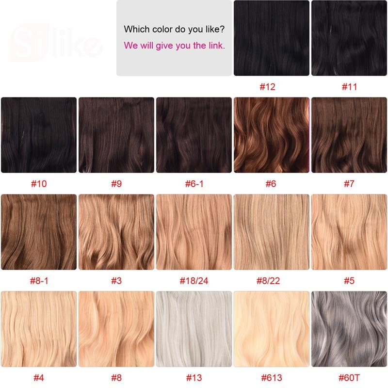 Silike 190g 24 tums sträckt vågig klämma i syntetiska - Syntetiskt hår - Foto 2