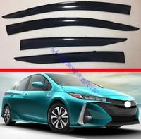 For Toyota Prius 2016 2017 2018 2019 Plastic Exterior Visor Vent Shades Window Sun Rain Guard Deflector 4pcs