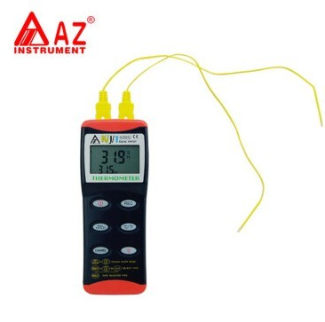 AZ8852 Thermometer picture with K/J/T type probe thermometer RS232 int twain m the adventures of tom sawyer