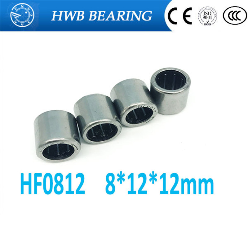 10pcs  HF0812 8*12*12mm  drawn cup needle roller bearing one way clutch for 8mm shaft  HF081212 free shipping drawn cup needle roller bearing hk1718 hk0709 hk2220 hk0812 ta1729 hk0612 hk1008 hk1812 hk1010 hk1212