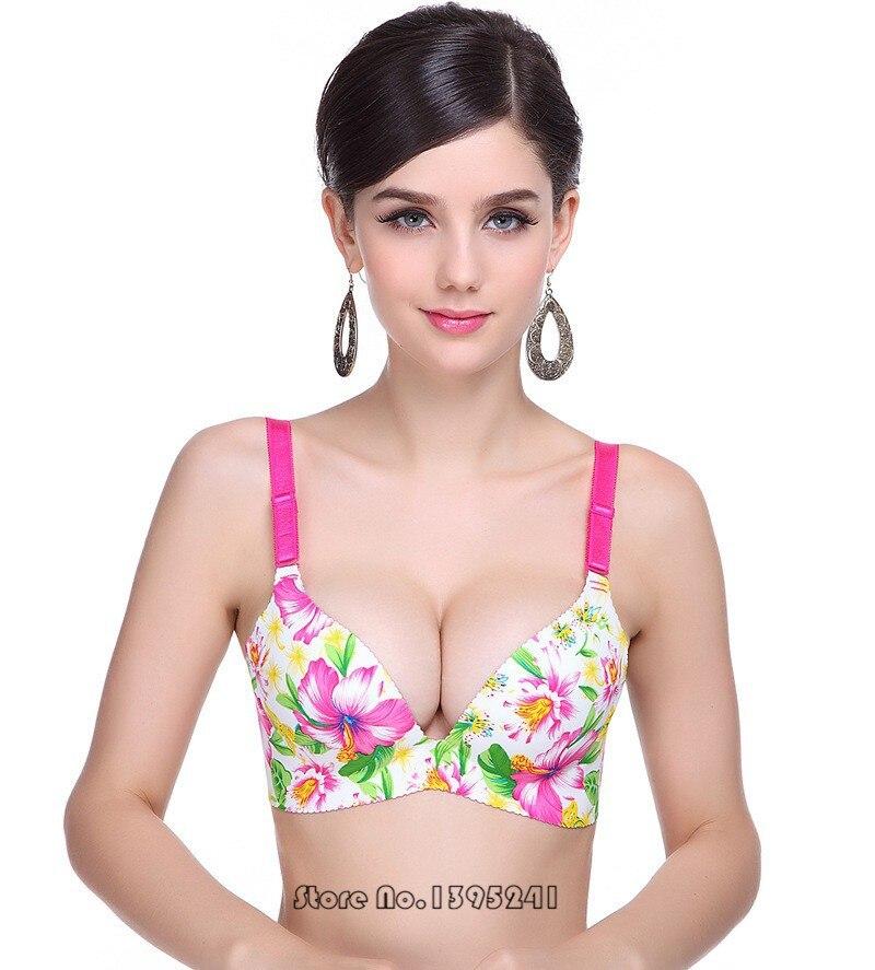 cbc6d32c62e Fashion Seamless Sexy Women Bra Plus Size Lingerie Push Up Bra Deep ...