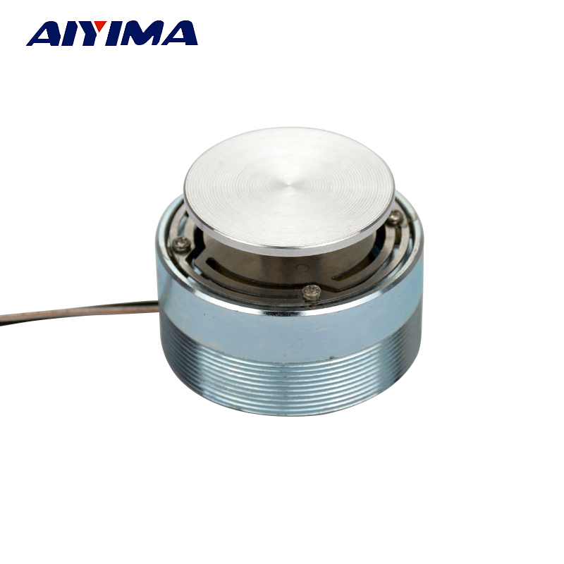 AIYIMA 1pc Full Range Speaker 20W 4 / 8ohm 44mm Vibración de audio Bocina de agudos HiFi Tweeter Unit Resonance Speaker Altavoz estéreo