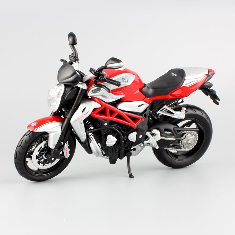 1:12 Mēroga bērnu MV Agusta F4 Brutale 1090 RR modeļi motociklu mini sacīkšu automobiļu peļņa motociklu dāvanas mazuļu rotaļlietām