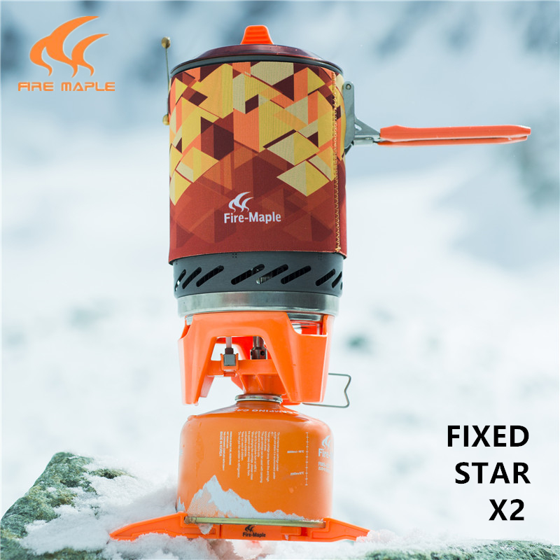 Fire Maple Fixed Star 2 Camping Outdoor portable stove Hiking Camping Equipment Oven Portable Propane Gas Stove FMS-X2 earth star outdoor camping stove regulator valve with elbow and nozzle 0 3mm length 45cm