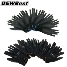 DEWbest перчатки, магазин, фабричные рабочие перчатки, Полиуретановые защитные перчатки, 12 пар/лот, европейский стандарт 001