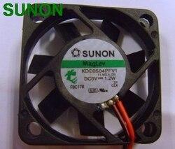 Oryginalny dla Sunon maglev KDE0504PFV1 DC 5V 1.2W 2 drutu serwera falownik chłodzenie osiowe wentylatory