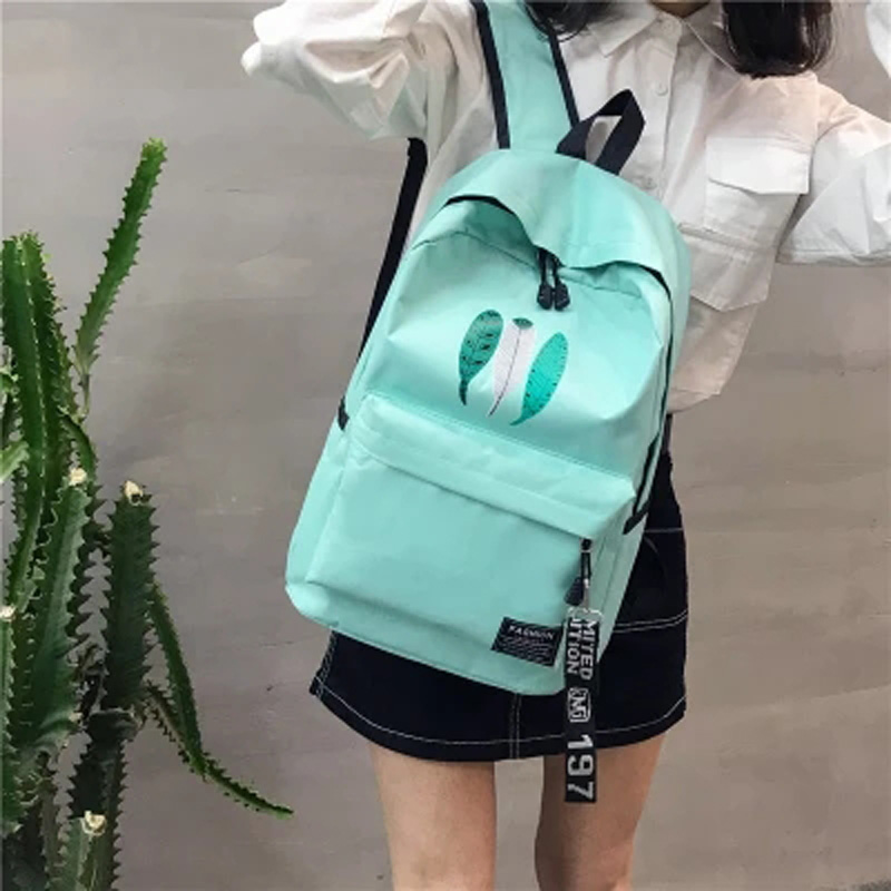 12454a86bee6 Bags for women 2018 High school students backpack men and women new ...