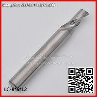 Singolo flauto Alluminio puro punte del router di CNC utensile da taglio di metallo 8*6*12 UNA serie-in Punta a fresa da Attrezzi su