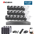 16CH POE System 16CH 5MP NVR H.265 Night Vision Outdoor Waterproof Network Camera CCTV Security System Surveillance Kit 4MP POE