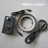Ánh Sáng trắng-156 cái Đèn LED Stereo Điều Chỉnh Kính Hiển Vi Sinh Học Đèn Chiếc Nhẫn Đầu Vào Điện 8 Wát 90 V-264 V với 81 mét Đường Kính Bên Trong