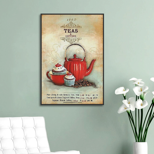 Vintage Wall Posters for Kitchen Decor