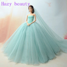 Hazy beauty Doll accessories doll dress wedding dress for barbie dolls BBI201