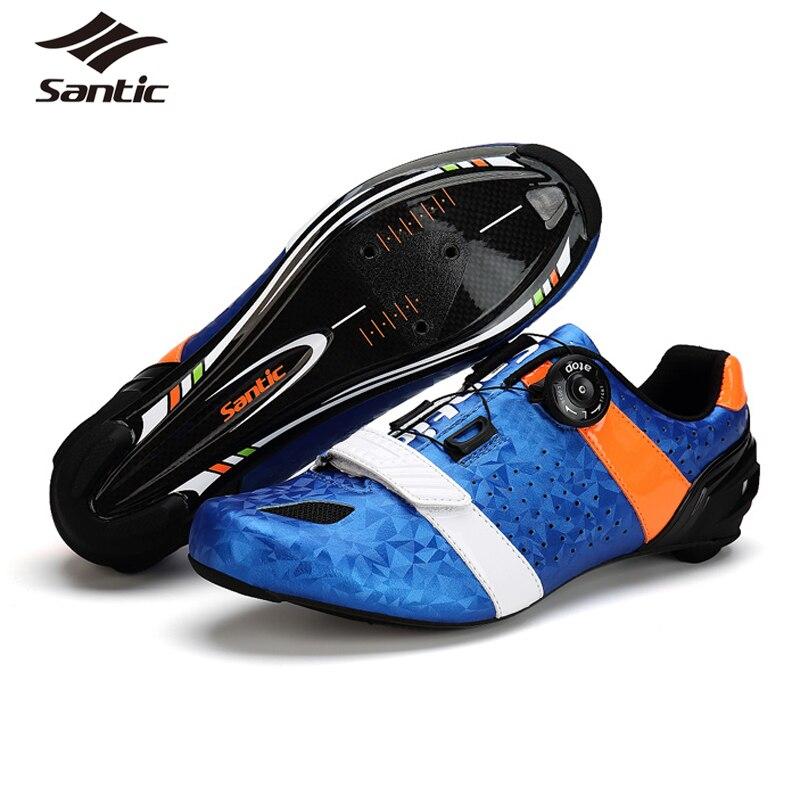 Сантич Велоспорт обувь Сверхлегкий углеродного волокна Дорожный велосипед обувь Мужская профессиональная гоночная команда самостоятельно lokcing спортивная обувь велосипедов 2017
