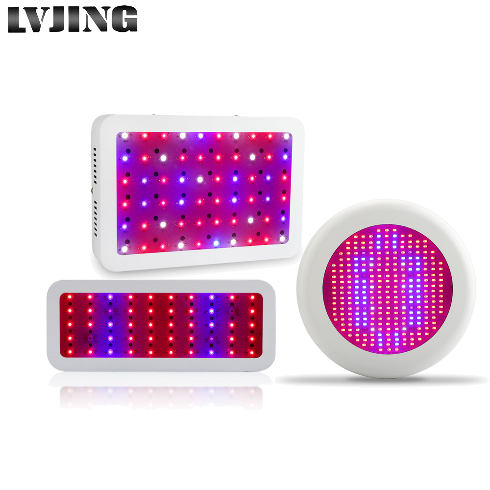 LVJING LED grow light 300W Full Spectrum for Indoor Greenhouse grow tent Hydroponics System led plants grow lamp UFO Growlight