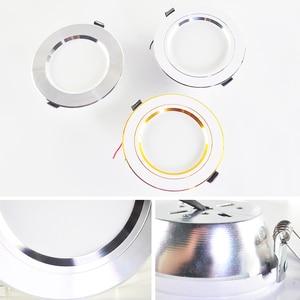Image 5 - Kaguyahime LED Downlight 220V 240V LED Tavan Lambası 18W 15W 12W 9W 5W 3W Altın/Gümüş/Beyaz Yuvarlak Gömme Işık LED Spot