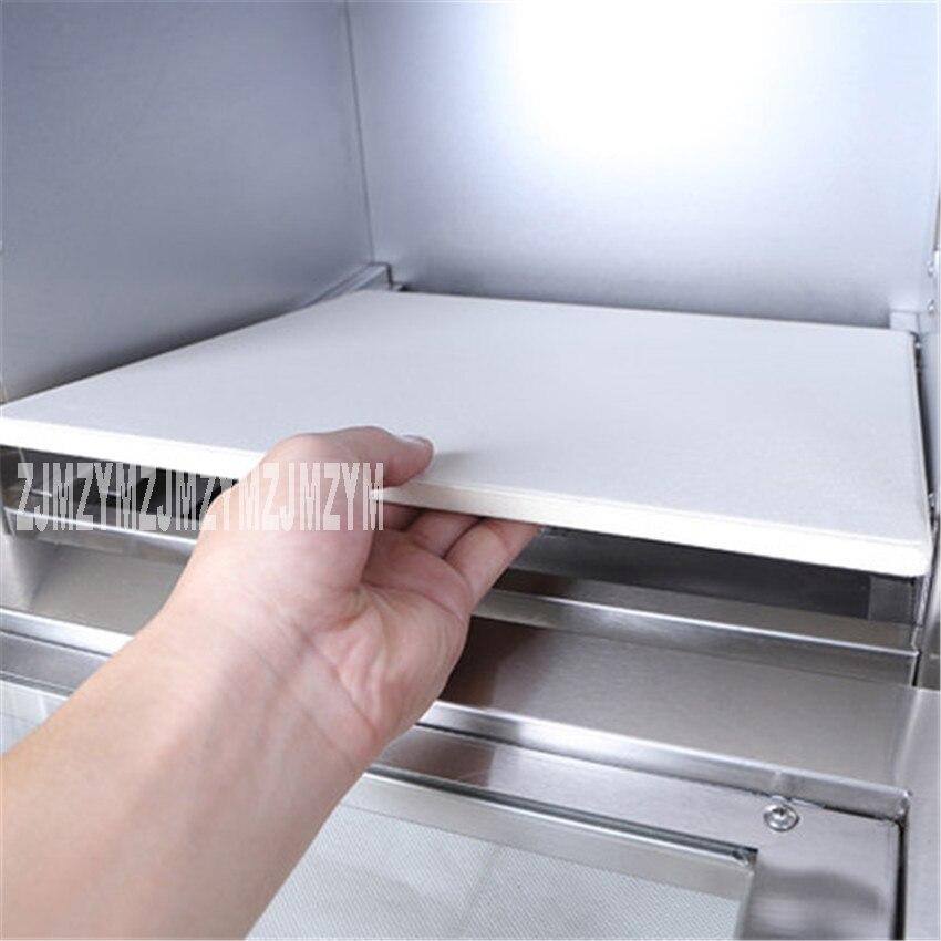 1 pc acier inoxydable électrique EP1A maison pizza four thermomètre/mini four/four à pain 220 V/50Hz taille de cuisson 35*34.5*20 CM - 4