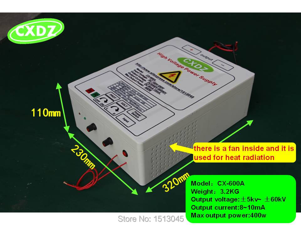 high voltage power supply WITH 5kv 60KV OUTPUT for remove smoke lampblack and dust air purifiers