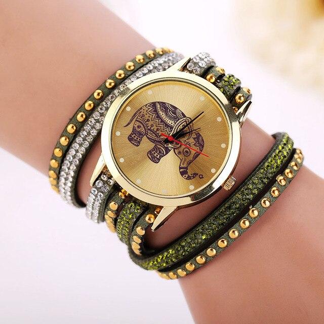 9 Colors Fashion Bracelet Watch Woman luxury brand watches Elephant geneva watch