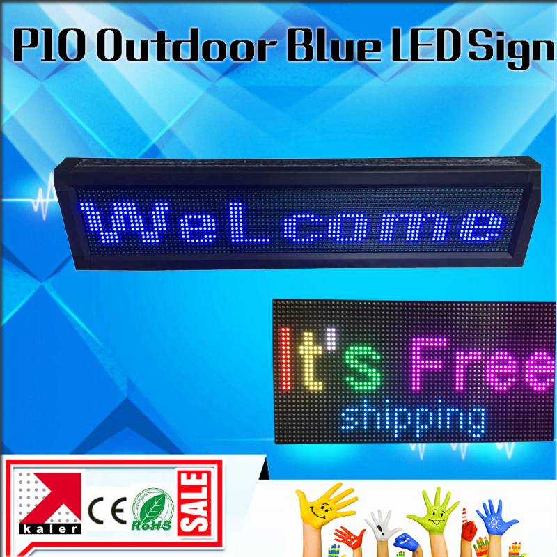 Blue USB Programmable Scrolling LED Sign Message Board Display 9*40 Inches Open LED Sign OutdoorBlue USB Programmable Scrolling LED Sign Message Board Display 9*40 Inches Open LED Sign Outdoor