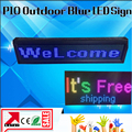Blue USB Programmable Scrolling LED Sign Message Board Display 9*40 Inches Open LED Sign Outdoor