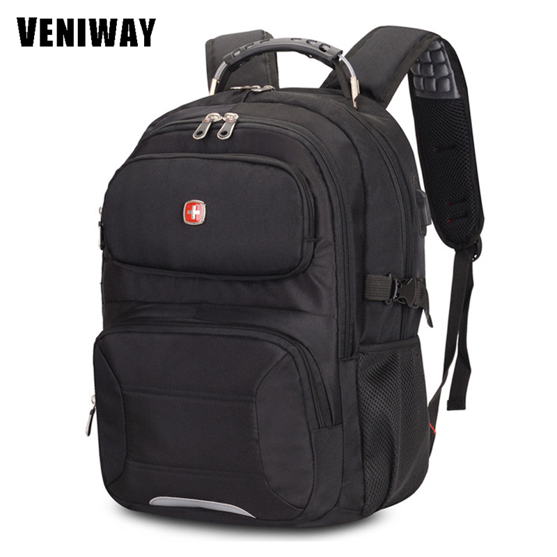 VENIWAY New Swiss Brand Gear man Waterproof Laptop Backpacks 15 inches Large Capacity Quality Backpack Daily Mochila Sac A Dos new 65l nylon large capacity multifunctional backpack high quality waterproof travel bags designer rucksack sac a dos mochila