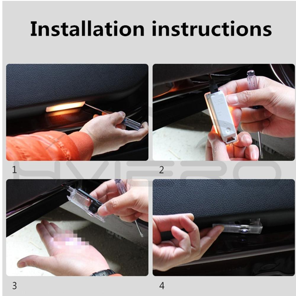 Купить с кэшбэком 2X Auto Led Door Light Logo Welcome Lamp Projection Laser Led for Peugeot 508 408 RCZ 1007 307 407 5008 607 806 Auto Accessories