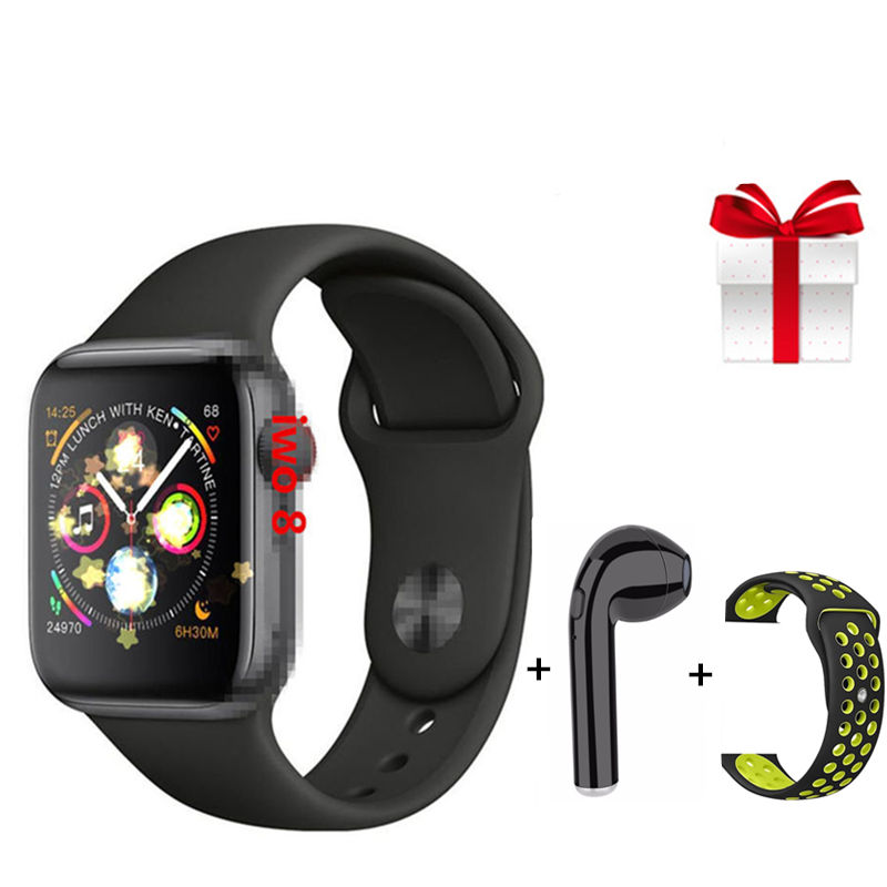 Smart watch+earphone+belt/set smartwatch women sports wristwatch for ios android with heart rate monitor ECG healthy tracker