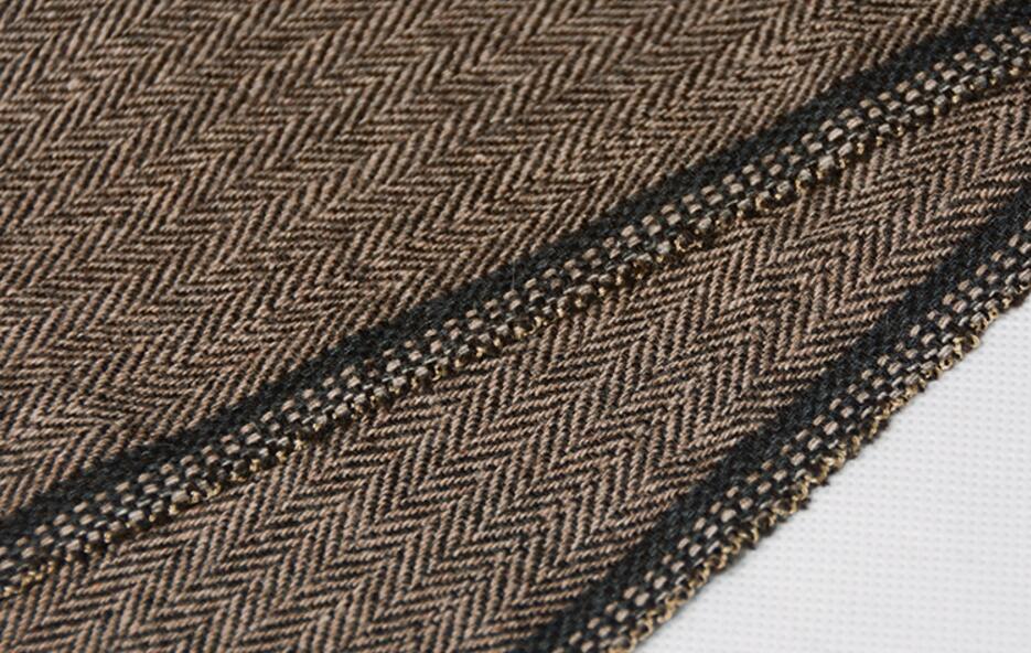 2018 Dark Brown tweed blazer men Wool Herringbone British style custom made Mens suit slim fit Blazer wedding suits for men 3