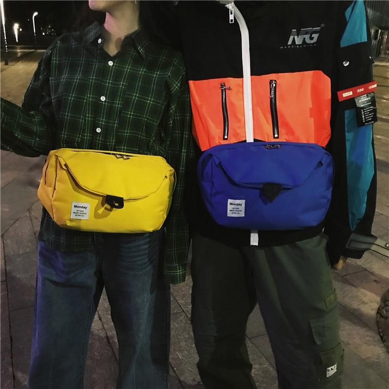 Women's Waist Bag Casual Fanny Pack Shoulder Messenger Bag Large Capacity Oxford Cloth Bag Unisex Chest Bag Small Pocket