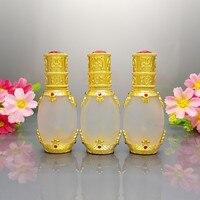15 ml Buzlu Cam Şişeler w/pipet damlalık, Altın Renk mini şişe kozmetik ambalaj, parfüm ambalaj