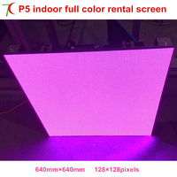 P5 SMD3528 white lamps indoor 640mm*640mm aluminum rental cabinet led screen, 320*160mm 16scan modules