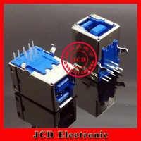 El mejor precio USB Jack USB conector USB 3,0 hembra enchufe BF90-degree horizontal tipo D para impresora escáner Copiadora