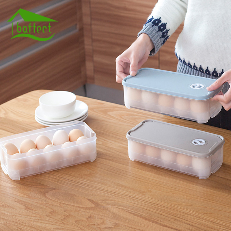10 Grid 24 Grid Egg Box Food Container Organizer Convenient Storage Boxes Durable Multifunctional Crisper Kitchen Products