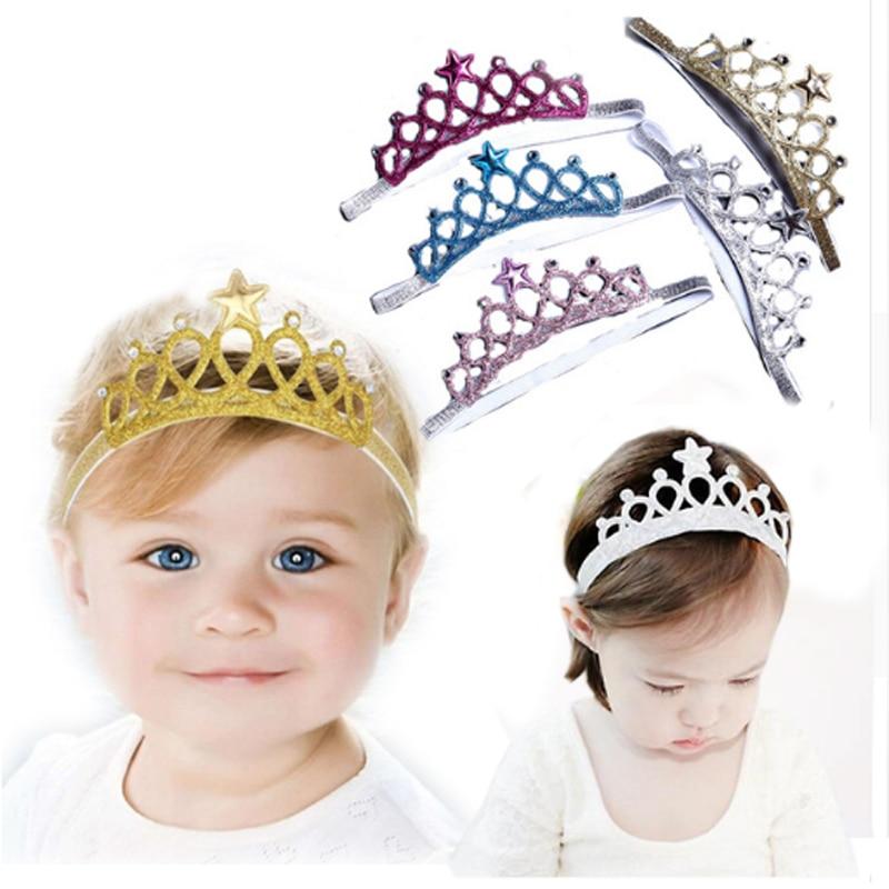 STARS  Head//Hair band  Baby Infant Toddler Gold//Silver Glitter  Princess Tiara