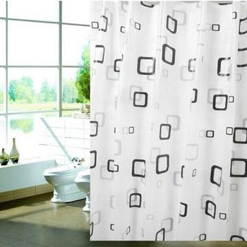 1pc 180*80cm zasłony prysznicowe wodoodporna PEVA zmywalna wanna kurtyna dekoracyjna Dropshipping tanie i dobre opinie CF0264 Modern Zaopatrzony Ekologiczne Geometric 180cm