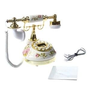 Image 5 - Старинный дизайнерский телефон ностальгия телескоп винтажный телефон из керамической MS 9100