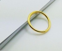 New Hi Q Genuine Solid 999 24K Yellow Gold / Perfect Smooth Design Ring