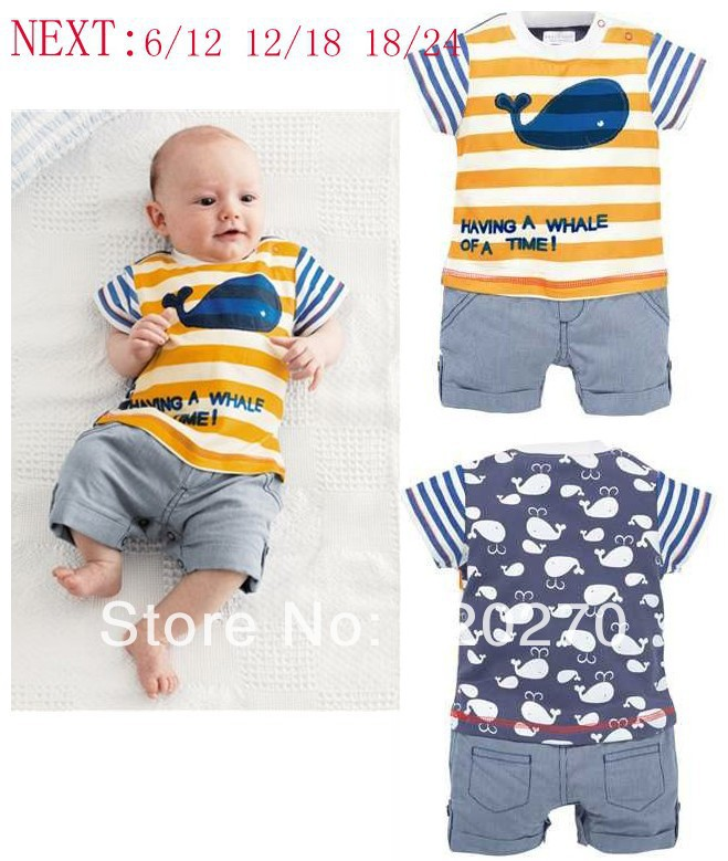 Aliexpress.com : Buy Free Shipping Summer NEXT Baby Boys Dolphin ...