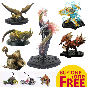MHW Game Monster Hunter World PVC Models Toy Collectible Hot Dragon Monster Action Figure Toy Monster Hunter 7 8 neca predator ultimate 30th anniversary jungle hunter pvc action figure jungle hunter unmasked collectible model doll toys