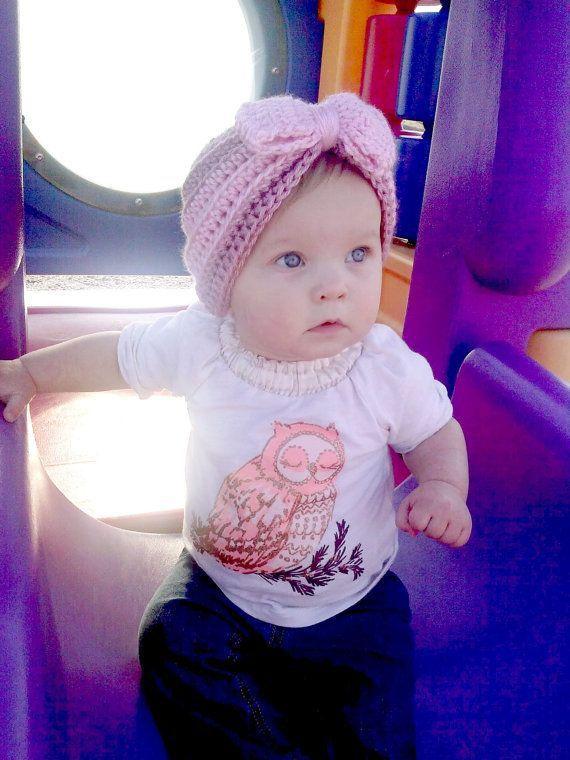 Hot Sale baby girl knit crochet turban headband warm accessories for newborns hair head Girls bathroom shower cap to keep warm