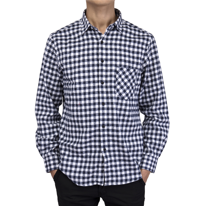 Men's Clothing Florata 2018 New Autumn Cotton Mens Plaid Shirt Male Warm Long Sleeve Shirt Plus Size Youth Office Business Casual Shirt Soft And Light