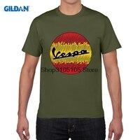 GILDAN designer t shirt Spain Vespa Flag Design T Shirt Moto Men Women Unisex Tee