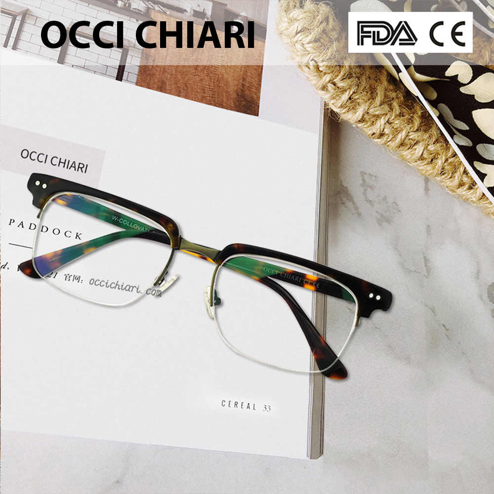 03c1581958a OCCI CHIARI Fashion Eyeglasses Men Women Brand Designer Prescription Nerd  Lens Medical Optical Glasses Frame W