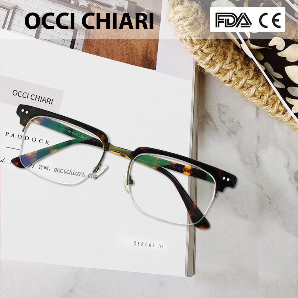 OCCI CHIARI  Fashion Eyeglasses  Men Women Brand Designer Prescription Nerd Lens Medical Optical Glasses Frame  W-COLLOVATI