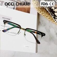 OCCI CHIARI moda gözlük erkekler kadınlar marka tasarımcısı reçete Nerd Lens tıbbi optik gözlük çerçevesi W COLLOVATI