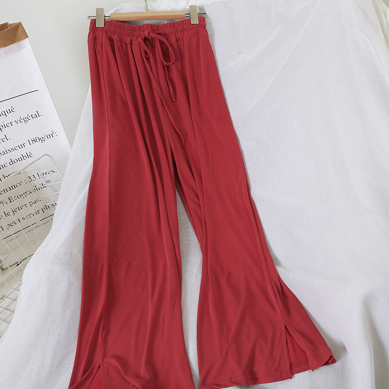 summer woman clothes trousers flare wide leg