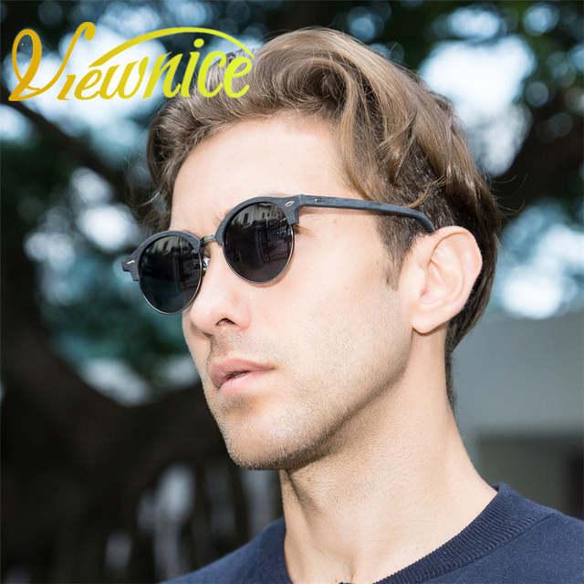 efdaf730e97 placeholder Viewnice Sunglass Men Polarized Goggle oculos masculino Wood  Sunglasses Acetate Classic Brand design Rivets Driver Eyewear