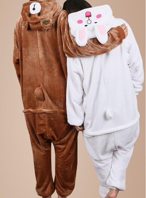 Winter Onesies Cute animal Pajamas Thickening man ...