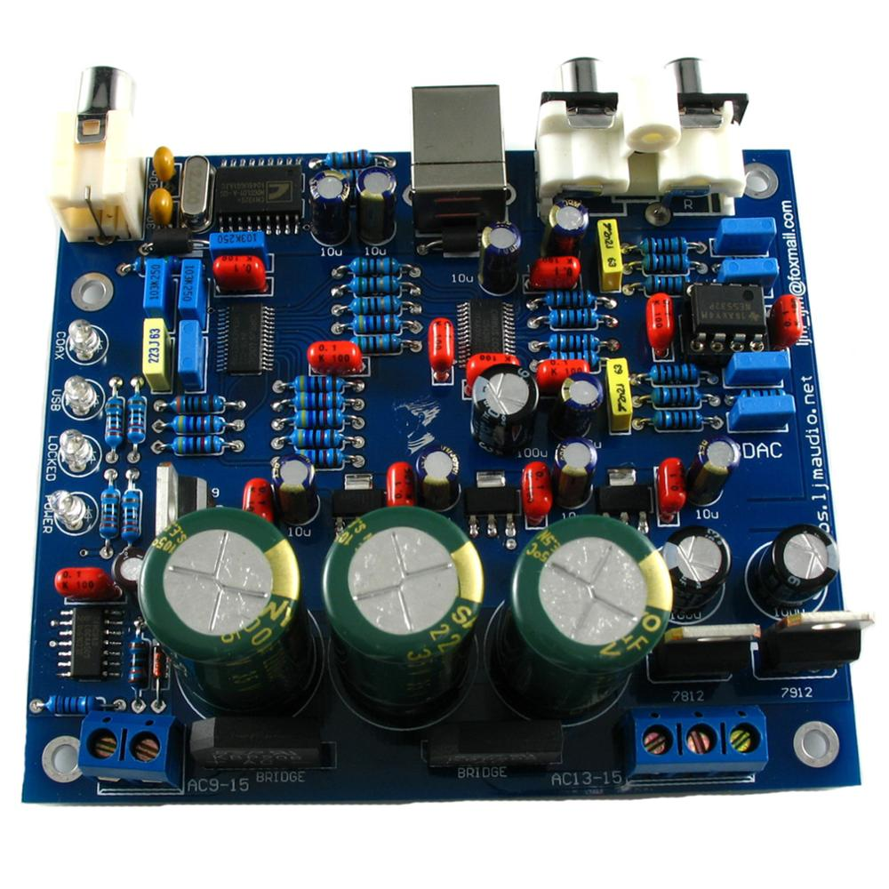 Image 2 - CS4398 CS8416IC DAC Board with USB Coaxial 24/192K Decoder Board AC 15V LJM-in Amplifier from Consumer Electronics