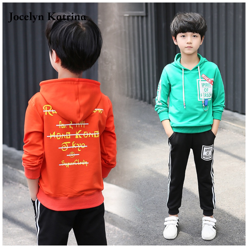Boys Clothes Sets Cotton Hooded Autumn 2017 Casual Children Clothing Sports Long Sleeve Tracksuit Suits Kids Outfits Set 2017 brand new boys clothing set kids sports suit children tracksuit long shirt pants cowboy sweatshirt casual clothes sets